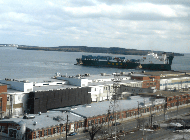 Pier 21 and Halifax Harbour from the Westin Nova Scotian Hotel