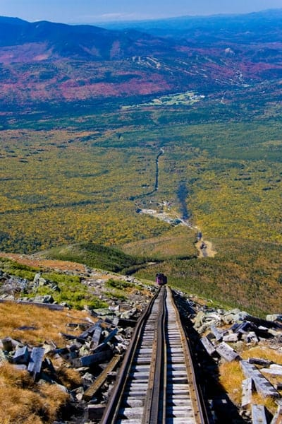 View from the cog railway
