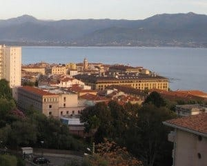 View of Ajaccio from our apartment