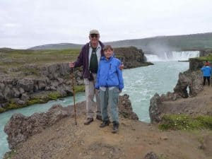 Heinz and Inge at Godafoss