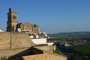 Views of the castle and the valley from our hotel room in El Convento