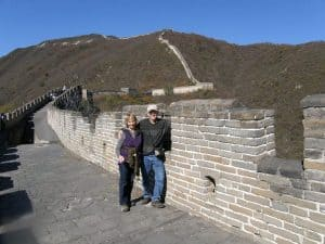 On the Great Wall of China