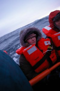 On a lifeboat in Antarctica!