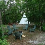 The Tipi Camp at Gordon's Park, Manitoulin Island