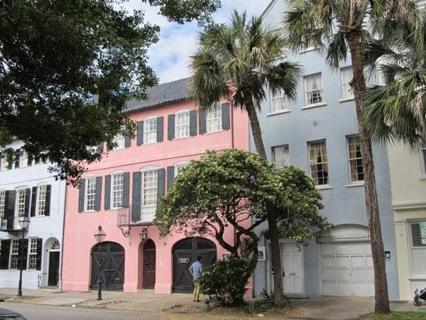 Some of the historic homes in Charleston